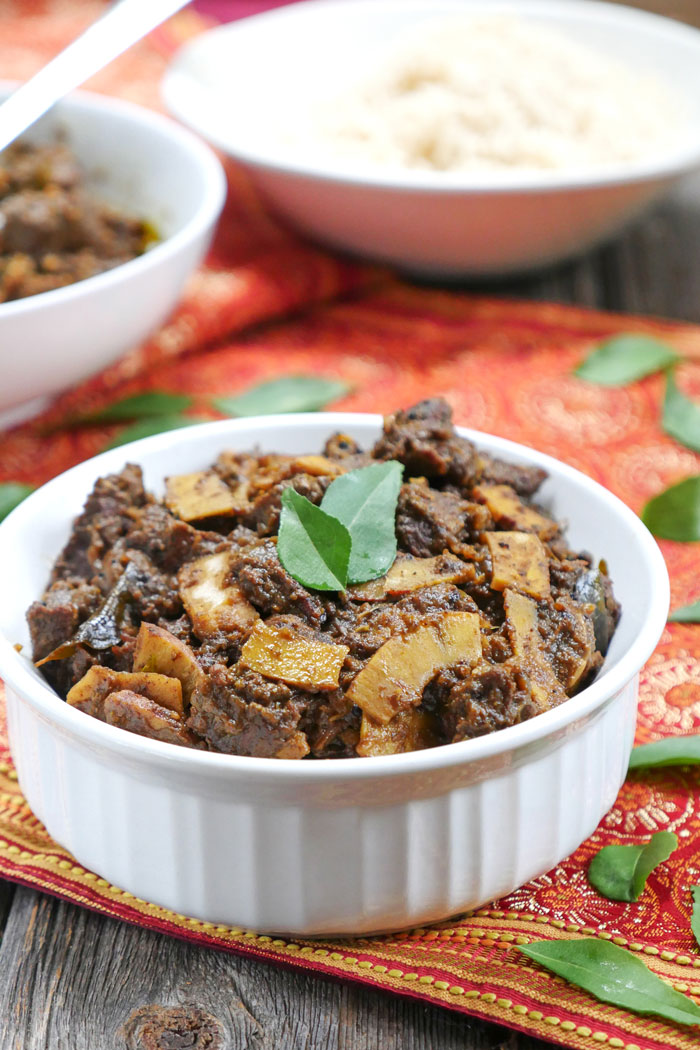 Instant Pot Kerala Beef Fry on MyHeartBeets.com
