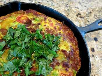 Spicy Egg Frittata