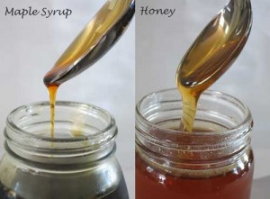 Honey vs. Maple Syrup