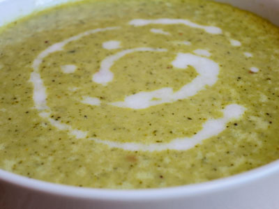 An Indian Paleo Broccoli Soup Made With Broccoli Coconut Milk Curry Leaves And