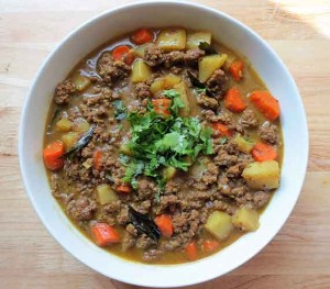 Indian Ground Beef Coconut Curry