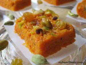 Carrot Fudge (Indian Gajar Halwa Mithai)