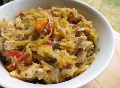 chicken spaghetti with creamy mushroom sauce