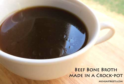 beef bone marrow bones make for a delicious, dark and nutrient-filled broth.