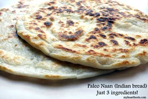 Paleo Naan (Just 3 ingredients!)