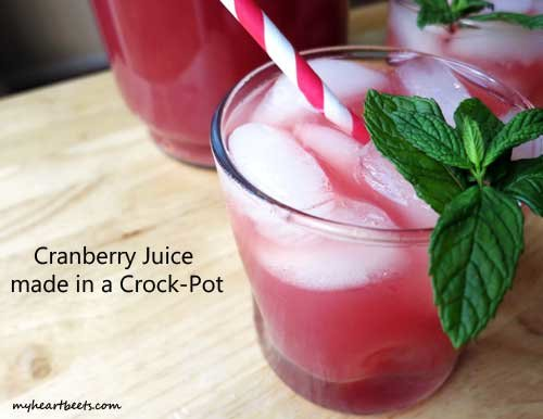 Cranberry Juice made in a Crock Pot
