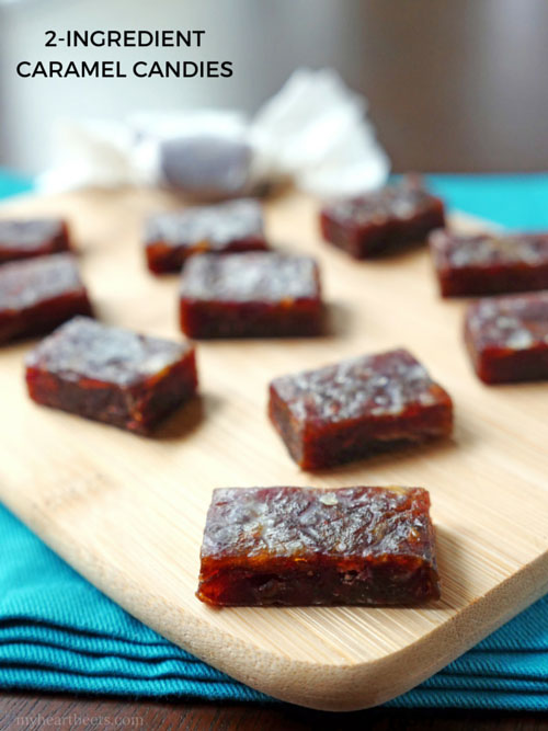 2-ingredient Paleo Caramel Candies by MyHeartBeets.com