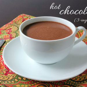 3-ingredient Paleo Hot Chocolate by myheartbeets.com