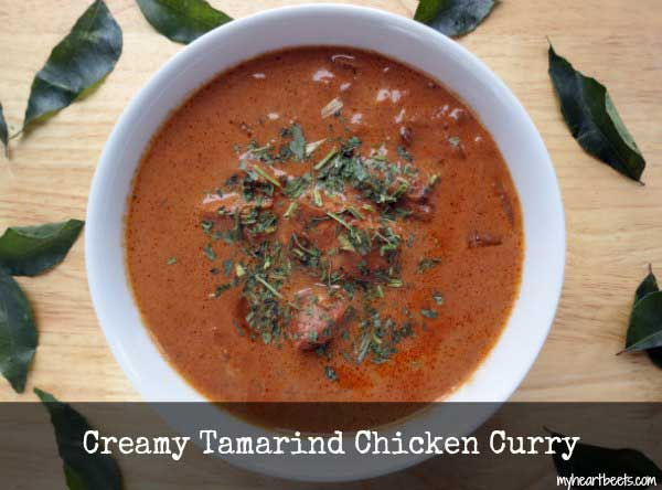 creamy tamarind chicken curry
