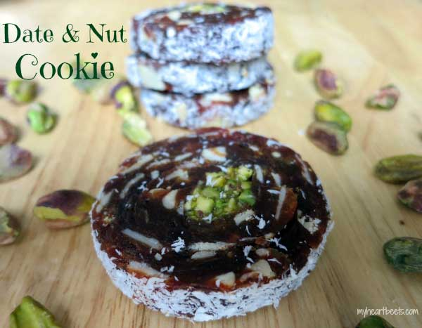 date and nut cookie by myheartbeets.com