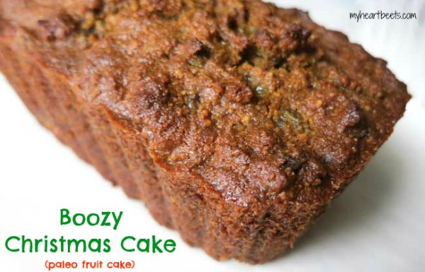 Boozy Christmas Cake (Paleo Fruit Cake) - My Heart Beets