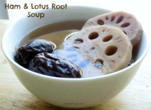 Ham and Lotus Root Soup by myheartbeets.com
