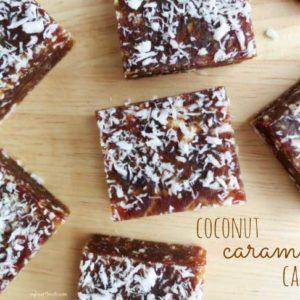 3 ingredient coconut caramel candy – no sugar added! www.myheartbeets.com