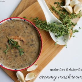 cream of mushroom soup by myheartbeets.com