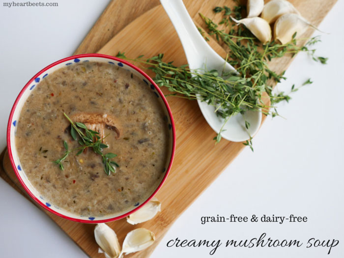 cream of mushroom soup by myheartbeets.com