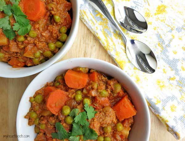 Indian Ground Lamb Curry
