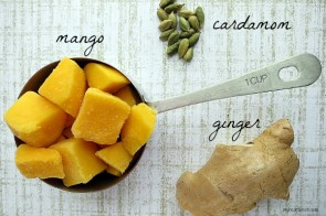 a sweetly spiced mango smoothie by www.myheartbeets.com