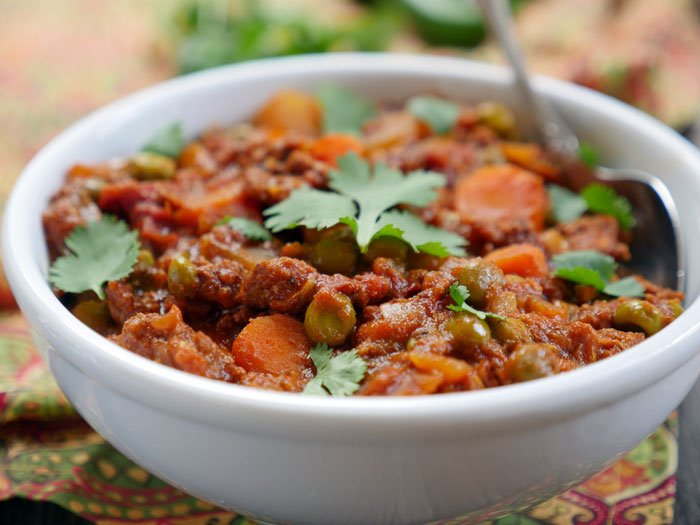 Indian Ground Lamb Curry by Ashley of MyHeartBeets.com