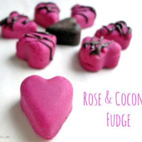 rose flavored coconut fudge www.myheartbeets.com
