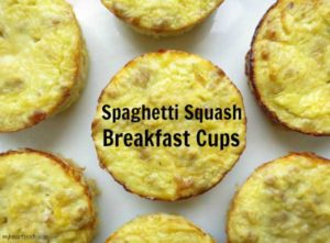 Super easy Spaghetti Squash Breakfast Cups by myheartbeets.com