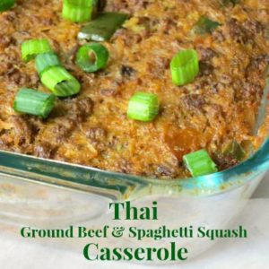 Thai Ground Beef and Spaghetti Squash Casserole by myheartbeets.com