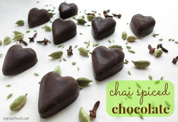 chai spiced chocolates www.myheartbeets.com