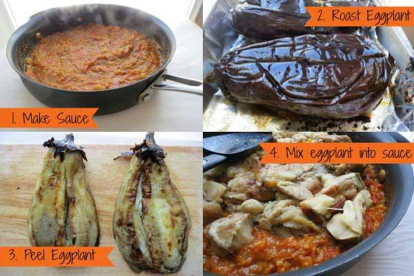 Baingan ka Bharta (Indian Eggplant Dish) by myheartbeets.com