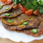 Savory Indian Pancake by myheartbeets.com