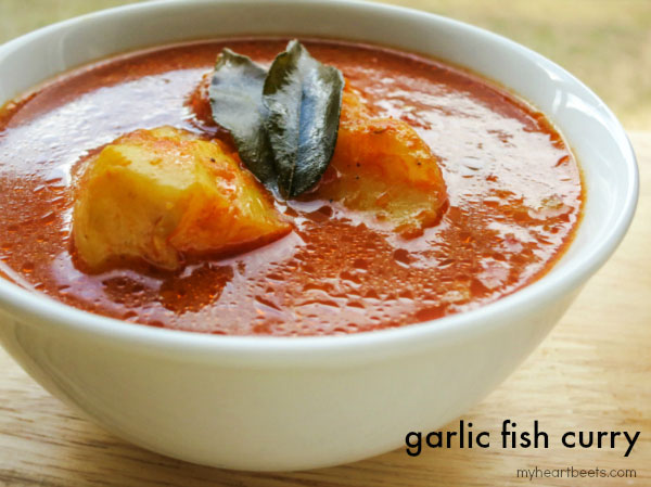 simple and tasty garlic fish curry by myheartbeets.com