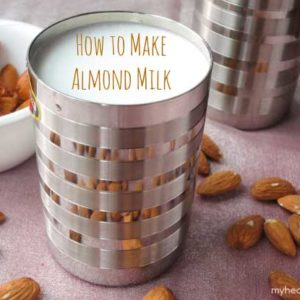 how to make your own almond milk - www.myheartbeets.com