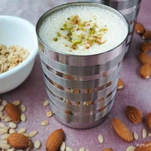 a sweet, creamy, nutty, dairy-free drink! delicious and paleo friendly! www.myheartbeets.com