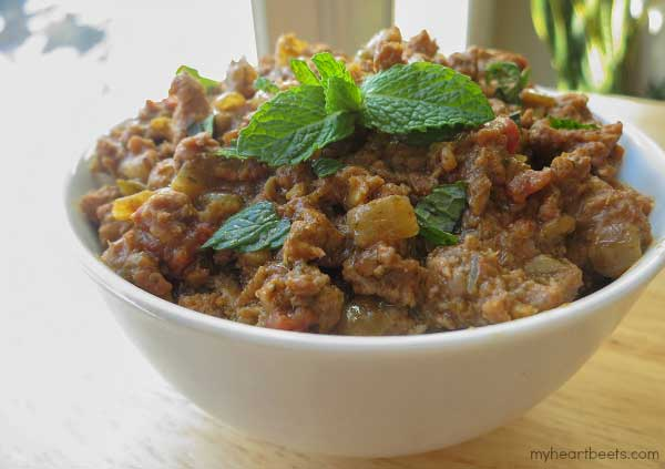 Ground Lamb and Mint Curry by www.myheartbeets.com