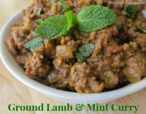 Ground Lamb and Mint Curry