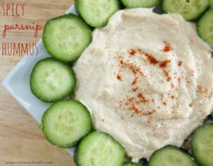 Spicy Parsnip Hummus + The Paleo Foodie Cookbook Giveaway! www.myheartbeets.com