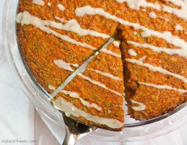 Gajar ka Halwa Cake (Indian Carrot Cake) by myheartbeets.com