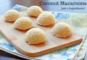 Raw Coconut Macaroon