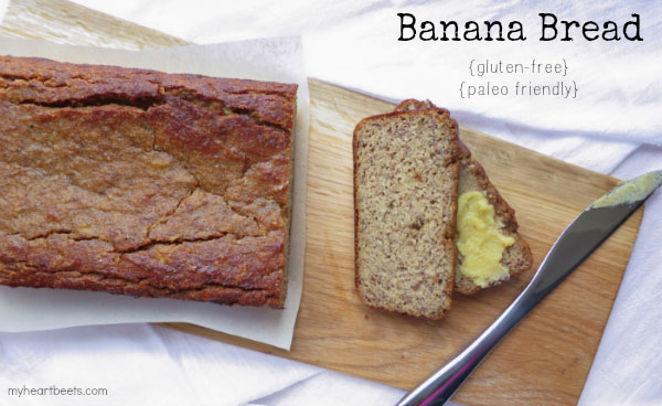 perfectly moist banana bread - uses a secret ingredient! myheartbeets.com