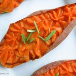 thai spiced baked sweet potato recipe cavegirl cuisine book review + giveaway on myheartbeets.com