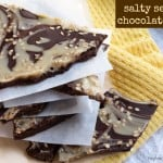 salty sesame chocolate bark - myheartbeets.com