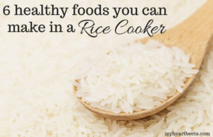 6 healthy foods (paleo-friendly) you can make in a rice cooker by myheartbeets.com