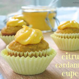citrus cardamom cupcake by myheartbeets.com