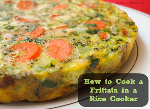 how to cook a frittata in a rice cooker