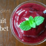 How to make one ingredient fruit sorbet by myheartbeets.com