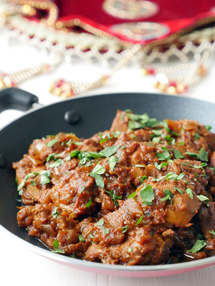 Chicken Karahi (Kadai), an Indian Recipe by Ashley of myheartbeets.com