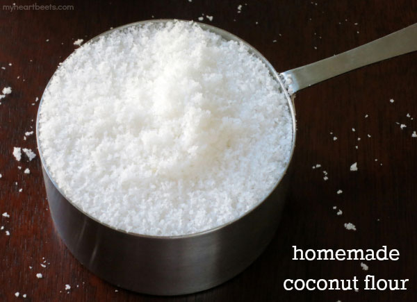 how to make homemade coconut milk and coconut flour by myheartbeets.com