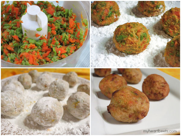 "how to make vegetarian ""meatballs"" or koftas by myheartbeets.com"