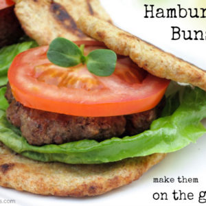 paleo hamburger buns on the grill + grilling giveaway by myheartbeets.com