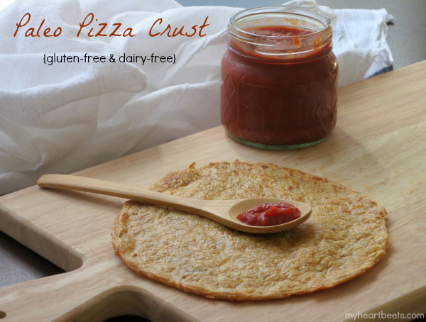 paleo pizza crust by myheartbeets.com