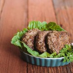 These herbed breakfast patties are made with fresh rosemary, sage and thyme. Recipe is on MyHeartBeets.com
