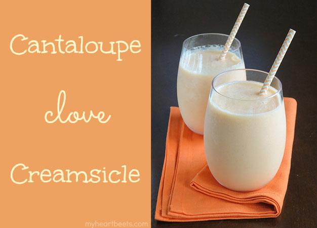 cantaloupe clove creamsicle by myheartbeets.com